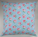 "Cushion Cover in Cath Kidston Ashdown Rose Blue 14"" 16"" 18"" 20"""
